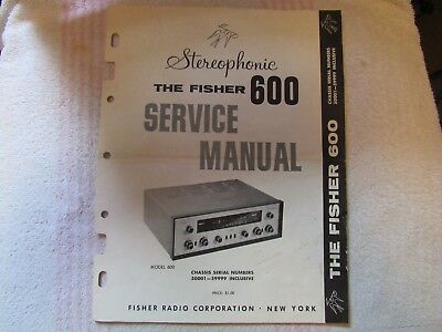 The Fisher Brand. Model 600. Stereo Receiver. Service Manual