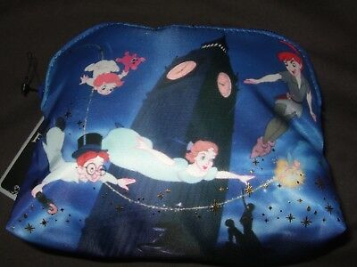 New Disney Peter Pan Wendy Tinkerbell John Michael Flying Cosmetic Makeup Bag