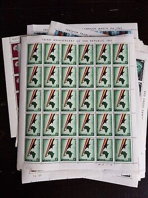 Collection of 14 x Ghana Perfect Mint Never Hinged Sheets - Useful ?