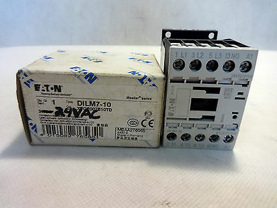 New In Box Eaton Dilm7-10 Contactor 24V Ac