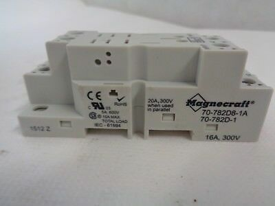 New Magnecraft 70-782D8-1A Relay Socket 16 Amp 300V 8-Pin