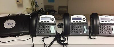 XBlue X16 4-Line Small Office Phone System w/ 3 Blue X16 Telephones