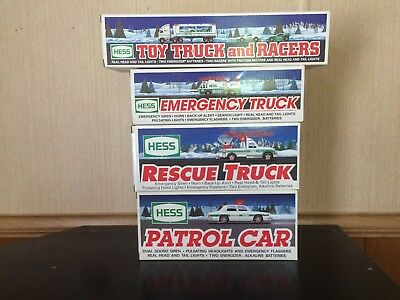 Lot Of 4 Hess Trucks 1993, 1994, 1996  & 1997 New Condition