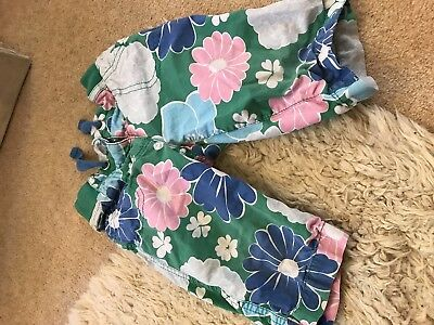 2 X Mini Boden Girls Trousers 2 Years Red Spot 2-3 Years Green Flowers