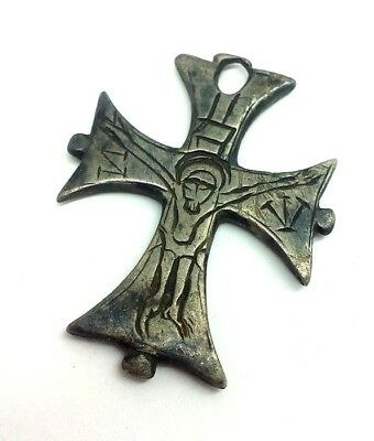 Medieval  silver cross of the Knights Templar 1200-1300 AD