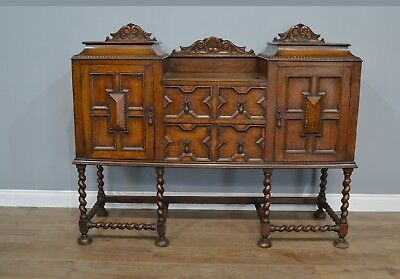 Antique Jacobean style oak sideboard
