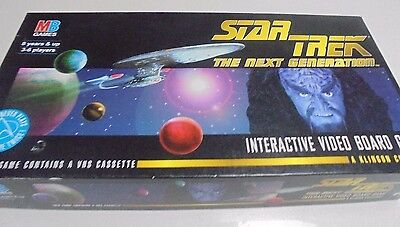 Star Trek The Next Generation Interactive Video Board Game MB Games Year 1994