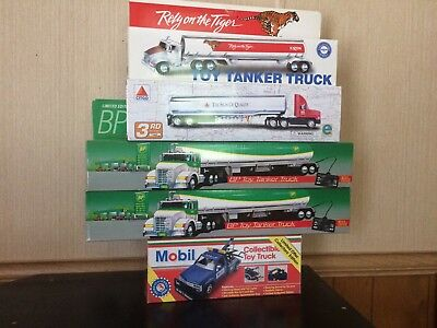 Lot Of 5 Toy Trucks B P, Citgo, Exxon & Mobil (No Hess) All In New Condition