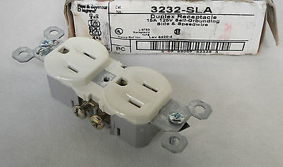 New Pass & Seymour Legrand 3232-Sla Duplex Receptacle 15 Amp 125V Light Almond