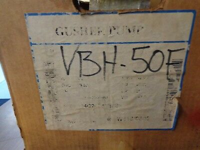 New Gusher Pumps Vbh-50F Coolant Pump 1/2 Hp 208-230/460 V