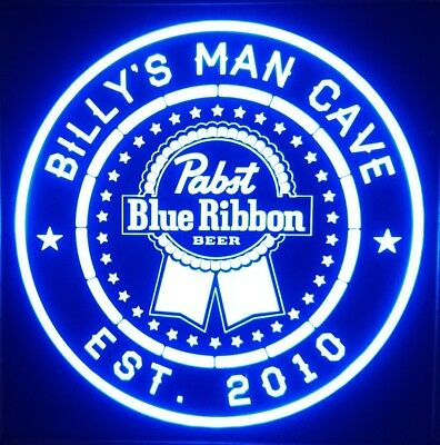 Custom Pabst Blue Ribbon led 12 x 12 Multi color LED Sign Personalized