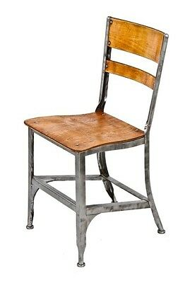 "Refinished Original C. 1930's ""toledo Uhl Art Steel"" Side Chair"
