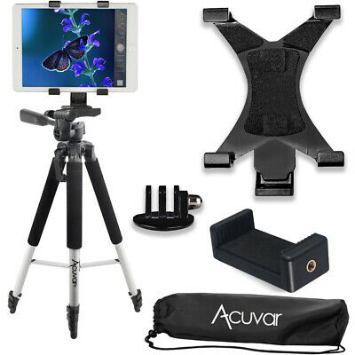 "57"" inch Pro Tripod, Tablet Mount + Smartphone Mount + Mount for GoPro"