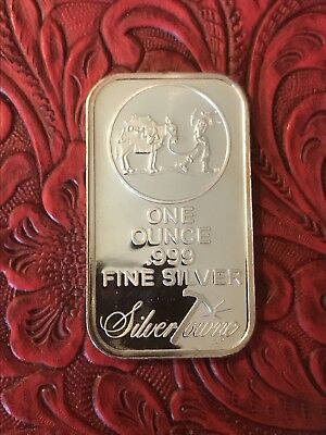 The Prospector 1 oz .999 Fine Silver Bar Silver Bullion SilverTowne Mint