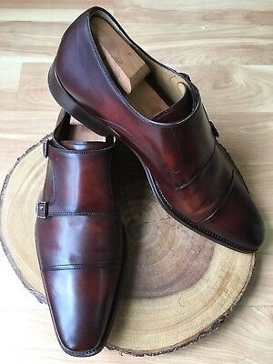 Magnanni 'Silvio' Double Monk Strap Tabacco Brown Leather Size 13 M $435 *