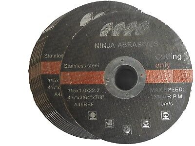 "115mm 4.5"" ULTRA THIN METAL CARBON CUTTING DISC 4 1/2"" STEEL & STAINLESS 1mm"
