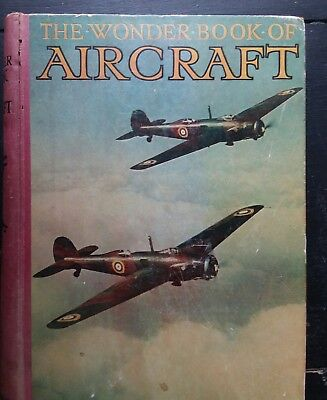 The Wonder Book of Aircraft 9th Edition Childrens Wartime WWII Planes 1930's