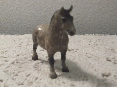 Breyer Stablemate Draft Horse #5180 Matte Dapple Grey Made 1989-1994 Very Nice
