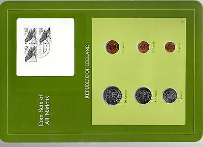 Coin Sets of All Nations Iceland All 1981 but 1, 10 Kronur 1984