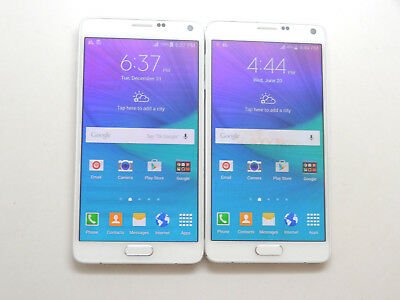 Lot of 2 Samsung Galaxy Note 4 SM-N910T T-Mobile Unlocked Smartphones AS-IS !