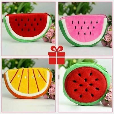 Plush Fruits Watermelon Pineapple Coin Purses Girls Boys Dinner Money Wallets