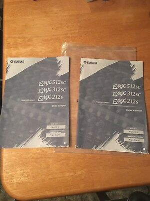 Lot of 2 Original Yamaha EMX512sc Powered Mixer Owner's Manual. English + French