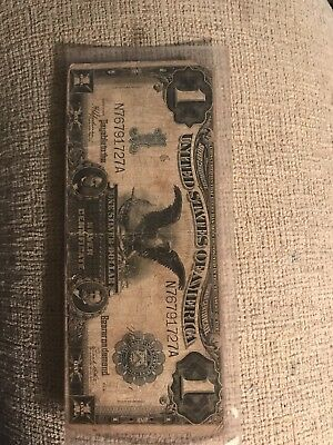 1899  ***black Eagle*** One Dollar Large Size Silver Certificate