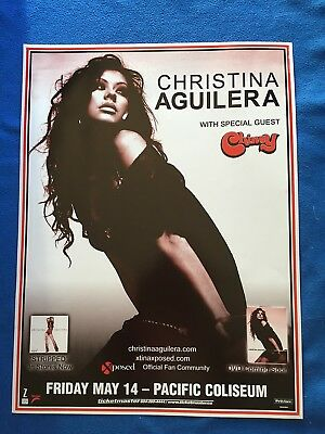 """CHRISTINA AGUILERA STRIPPED with CHINAY CONCERT TOUR POSTER """"RARE"""""""