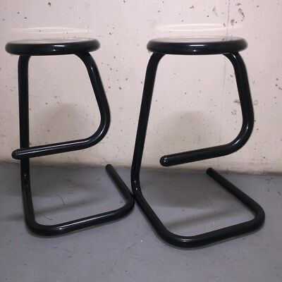 Pair of Vintage Paperclip Stools Unmarked in the style of the KINETICS K700