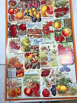 4 New Posters Smithsonian Seed Catalog Collection Fruit Vegetables Flowers Roses