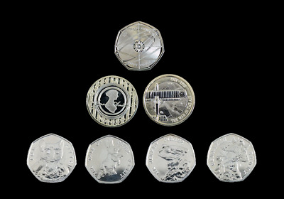 Brilliant Uncirculated 2017 Two Pound £2 & Fifty Pence 50p Coins - New