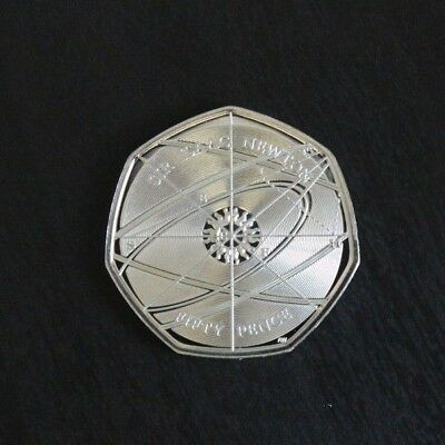 2017 Isaac Newton 50p Fifty Pence Coin in Uncirculated Condition - Brand New