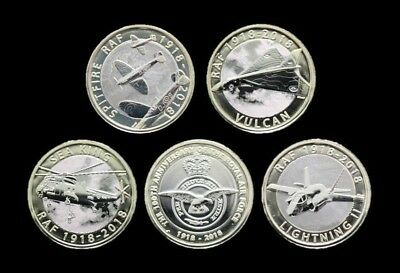 Brilliant Uncirculated 2018 Royal Air Force RAF Two Pound £2 Coins - New