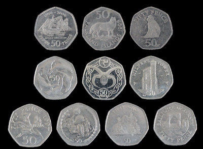Guernsey, Gibraltar, Jersey, Isle of Man 50p Coin Hunt Fifty Pence - UK Seller