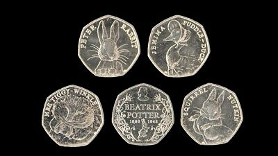 2016 Uncirculated Beatrix Potter 50p Fifty Pence Coins Full Set Album Available