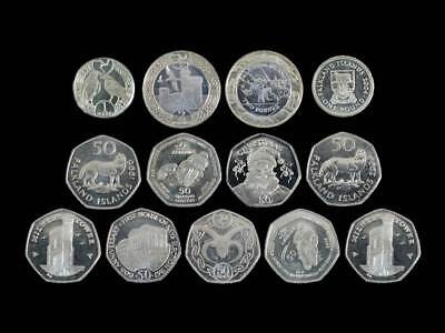 Territories Uncirculated Coins Fifty Pence, One Pound, Two Pounds, 50p, £1, £2