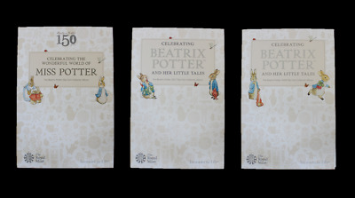 Brand New Royal Mint Albums for Beatrix Potter 50p Fifty Pence Coin Sets