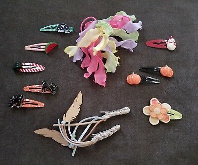Gymboree Girls Accessories Lot of 12 Pieces Hair Clips Barrettes