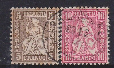 (K95-47) 1882 Switzerland 5c brown &10c red (AV)