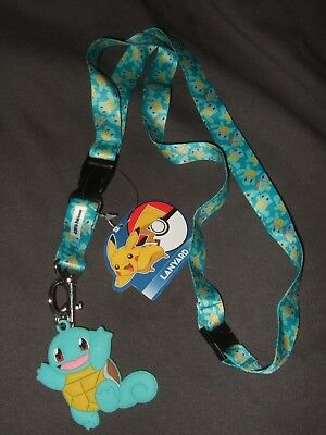 New Detachable Pokemon Squirtle Keychain Lanyard And Cute Rubber Character Charm