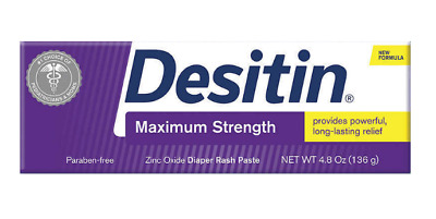 Desitin Maximum Strength Zinc Oxide Diaper Rash Paste 4.8oz - CHOOSE QUANTITY