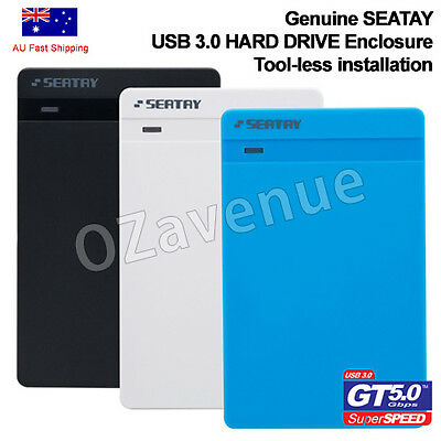 "SEATAY USB 3.0 External 2.5"" SATA SDD HDD Hard Drive Disc Enclosure Case Box"