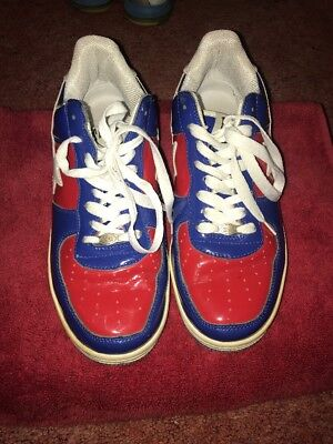 bape shoes, size 9 men's, red,white and blue