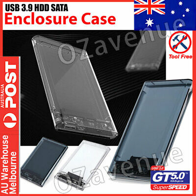 "USB 3.0 Hard Drive Disk 2.5"" SATA HDD SSD External Slim Enclosure Case AUS"
