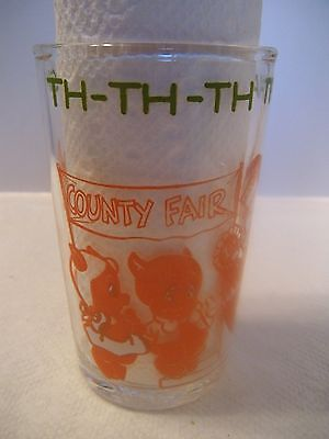 "1974 Warner Bros. Looney Tunes 4"" Collector Glass Bugs Bunny, Elmer Fudd"