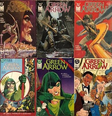 GREEN ARROW DC COMICS 1988 SERIES LOT: #1-12, #16, 17, annual #1 MIKE GRELL