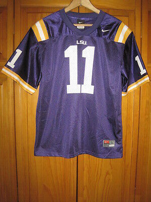 official photos 07d1c 65416 LSU Tigers college football jersey kids boys L 16/18 Nike purple #11 Nike