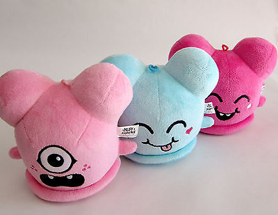 3 x Buff Monster Plush figures 3d retro kaws bearbrick dunny jeremy fish kozik