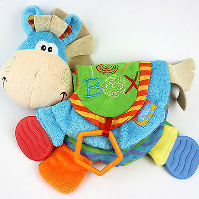 Baby Cute Donkey Animal Cloth Book Teether Toys Education Soft Cloth Book NEW