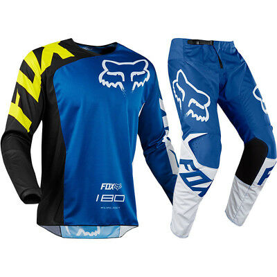 FOX RACING 180 Race Blue MX Youth Pants With FREE Matching Jersey **SPECIAL**